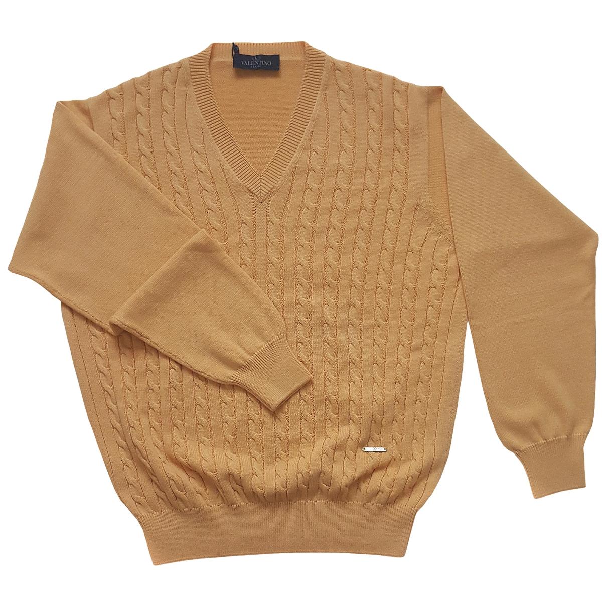 Valentino Garavani \N Pullover.Westen.Sweatshirts  in  Orange Baumwolle
