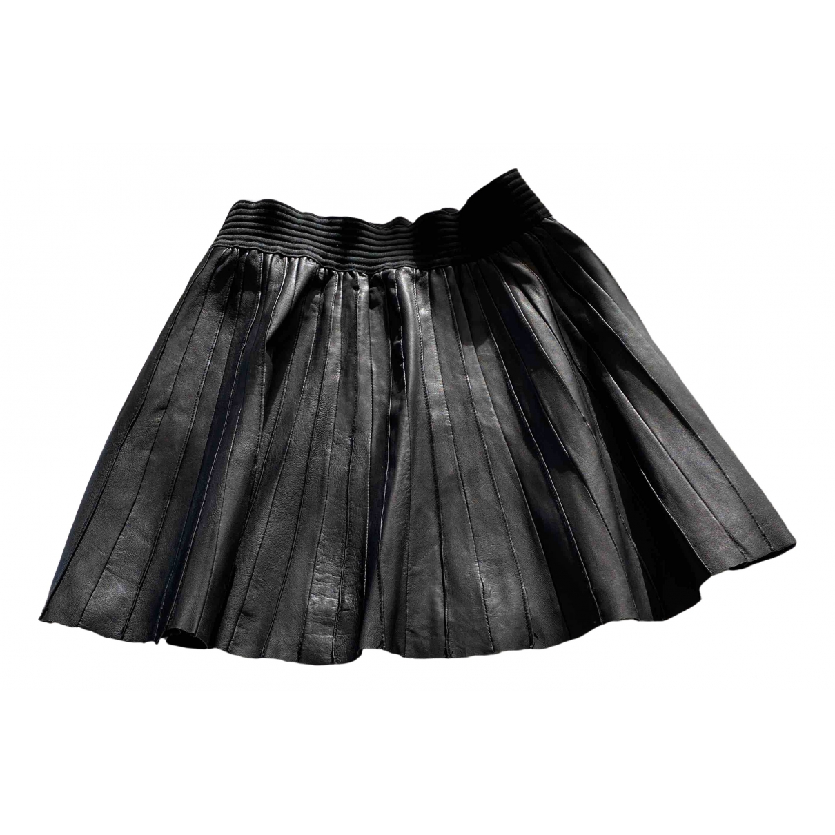 Les Petites \N Black Leather skirt for Women 40 FR