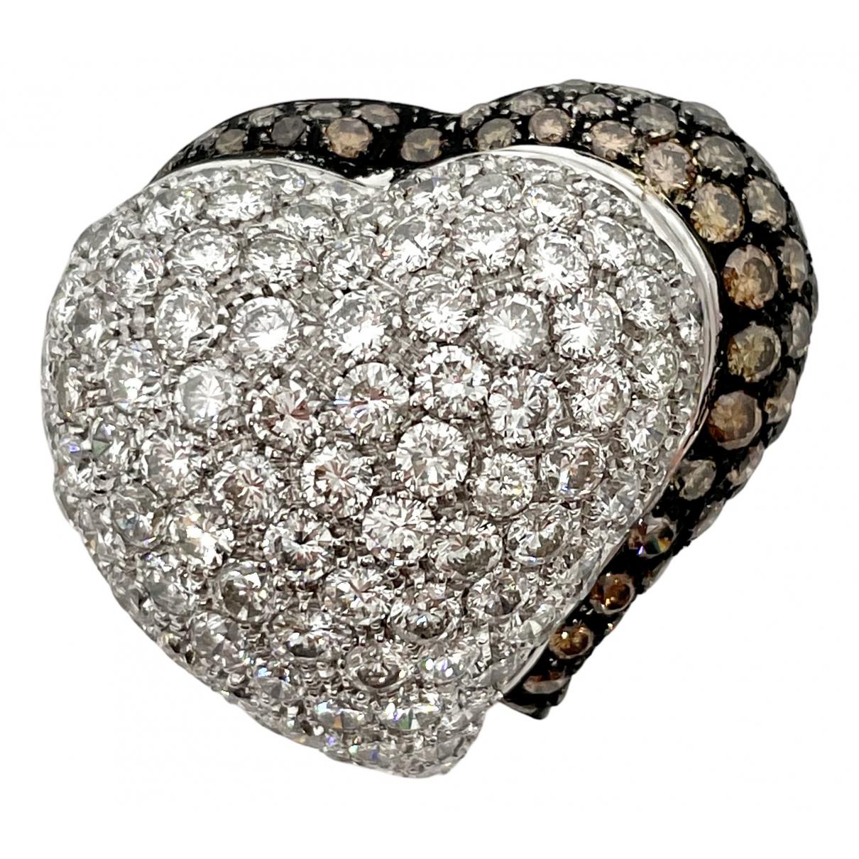 - Pendentif Motifs Coeurs pour femme en or blanc - argente