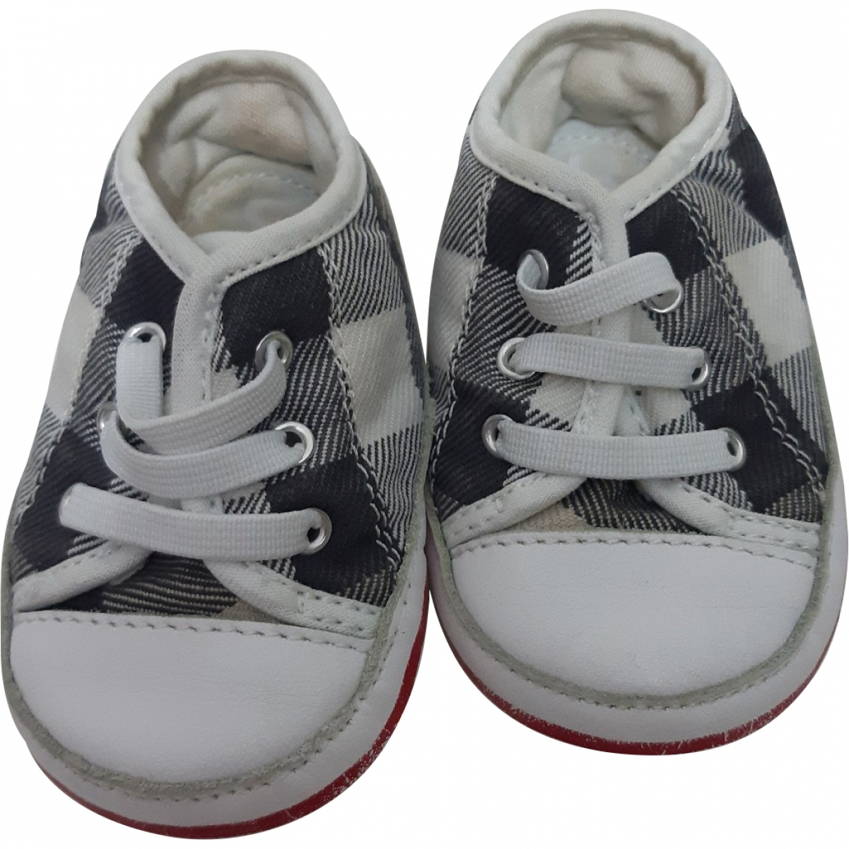 Burberry \N Blue Cloth First shoes for Kids 19 EU