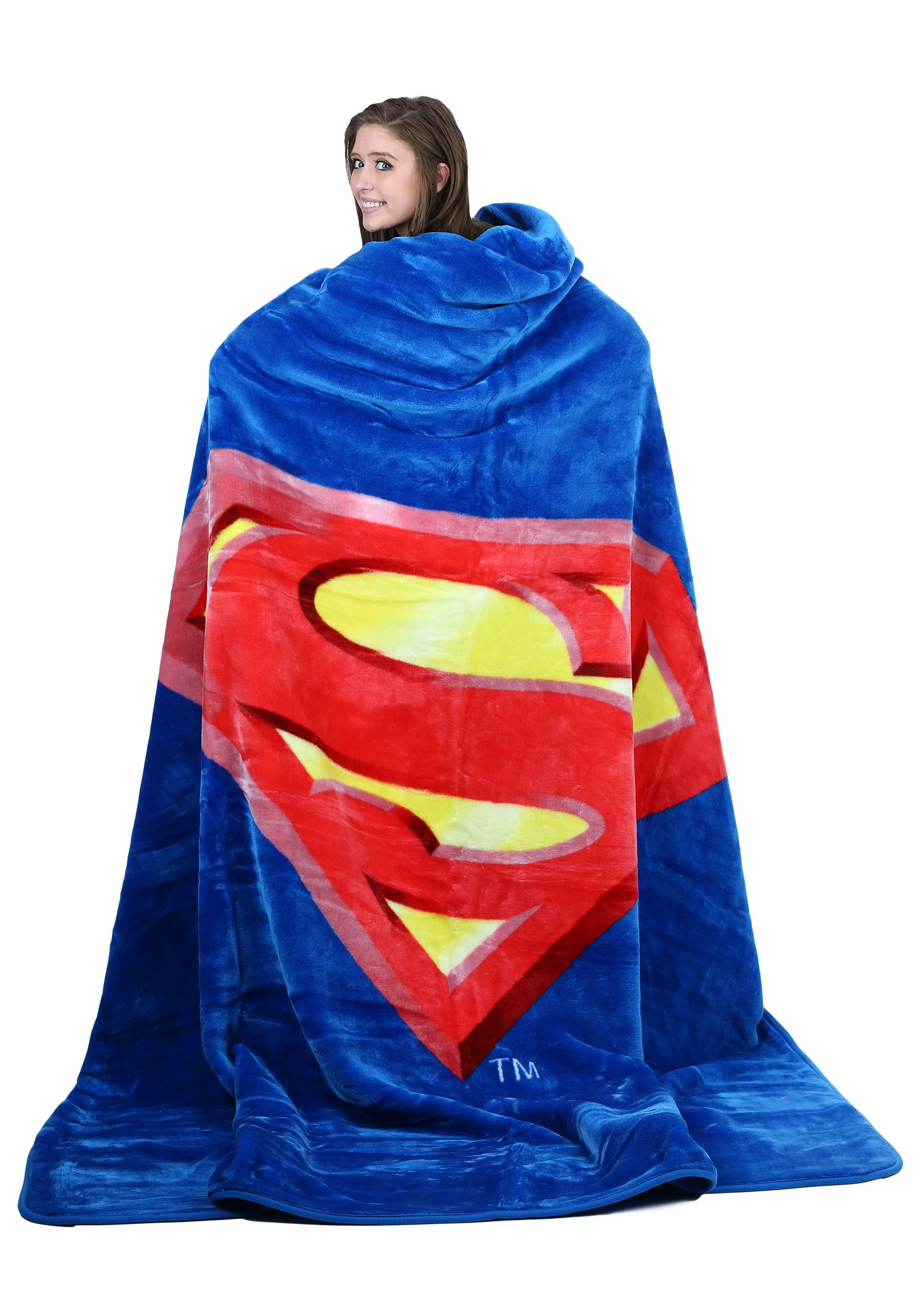 DC Comics Superman Shield Queen Blanket