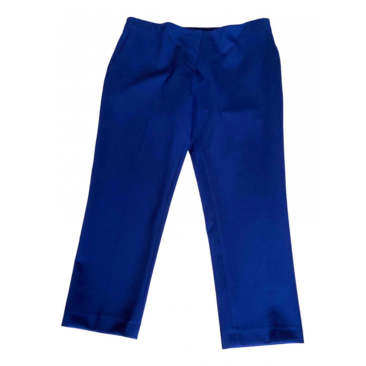 Tara Jarmon \N Blue Trousers for Women 42 FR