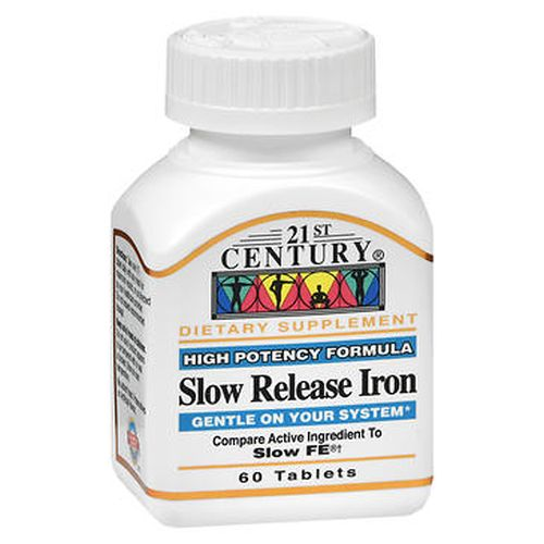Slow Release Iron 60 Tabs by 21st Century