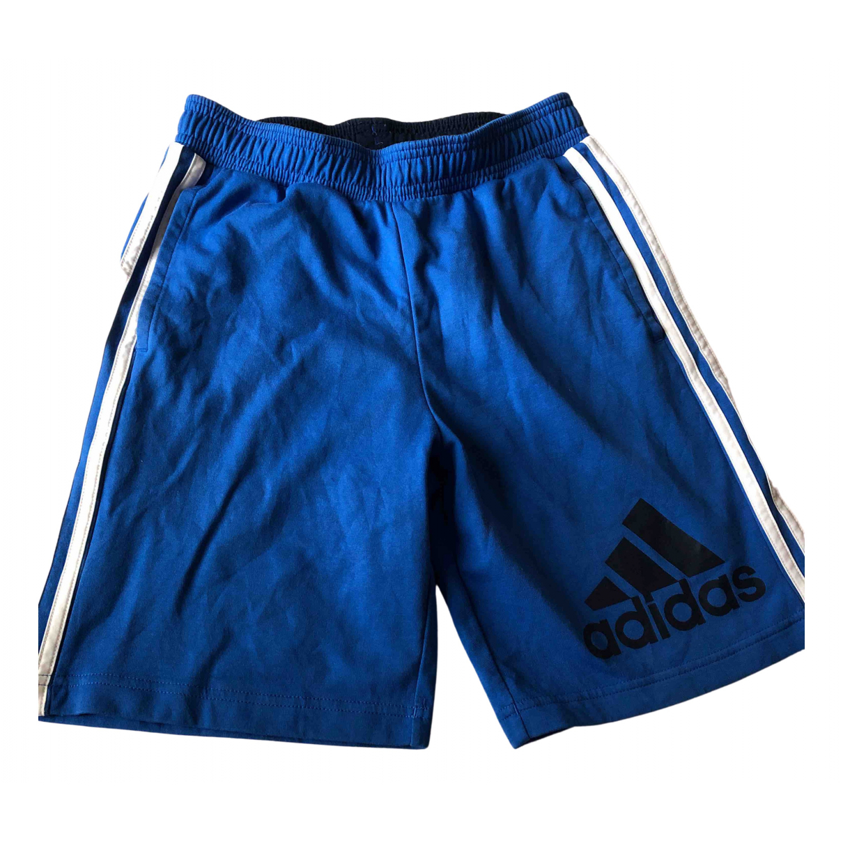 Adidas N Blue Cotton Shorts for Kids 14 years - S UK