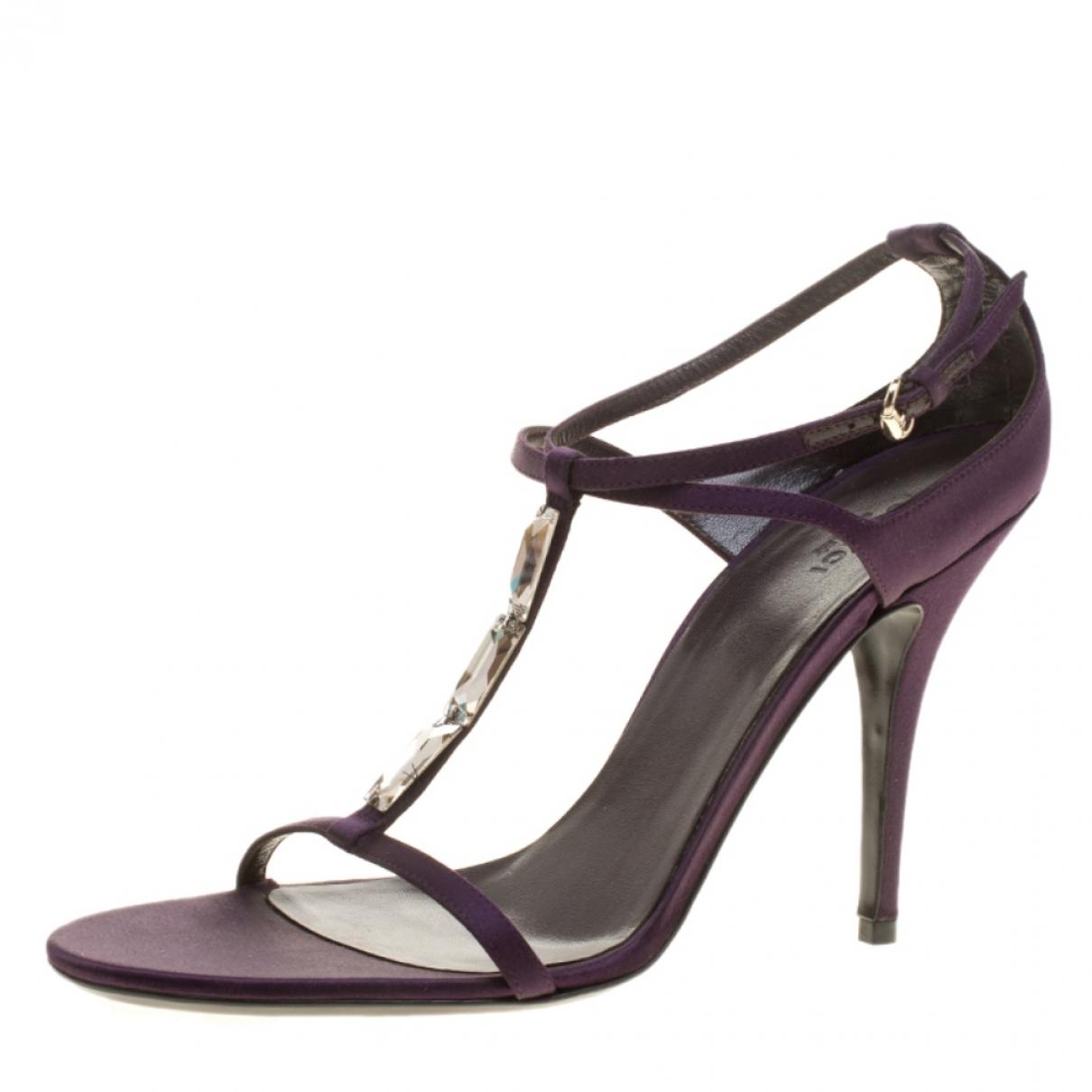 Gucci - Sandales   pour femme en toile - violet