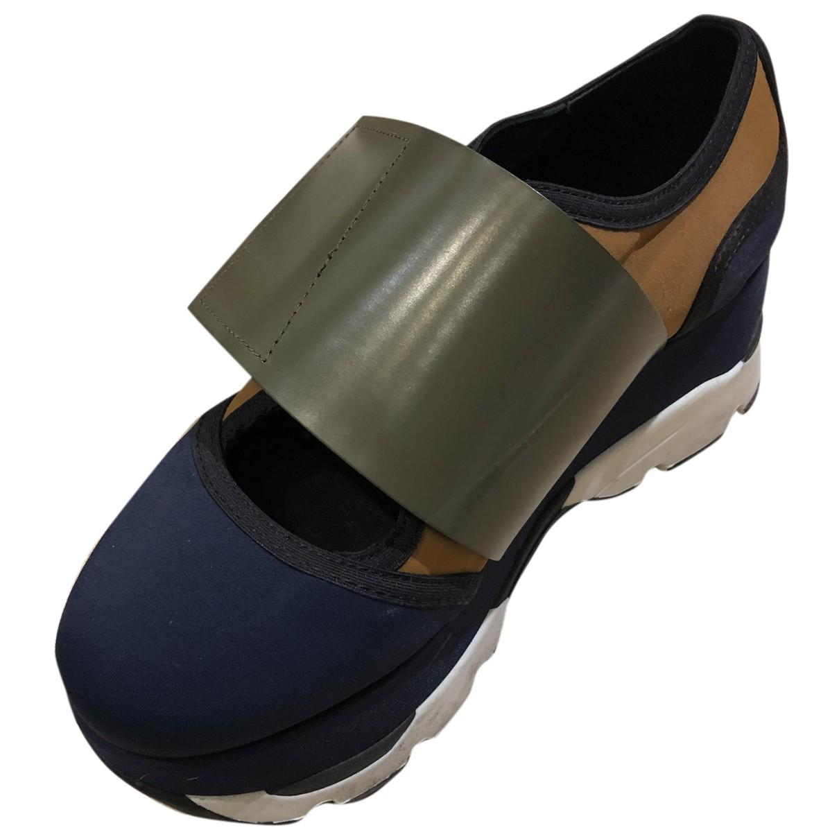 Marni - Baskets   pour femme en cuir - bleu