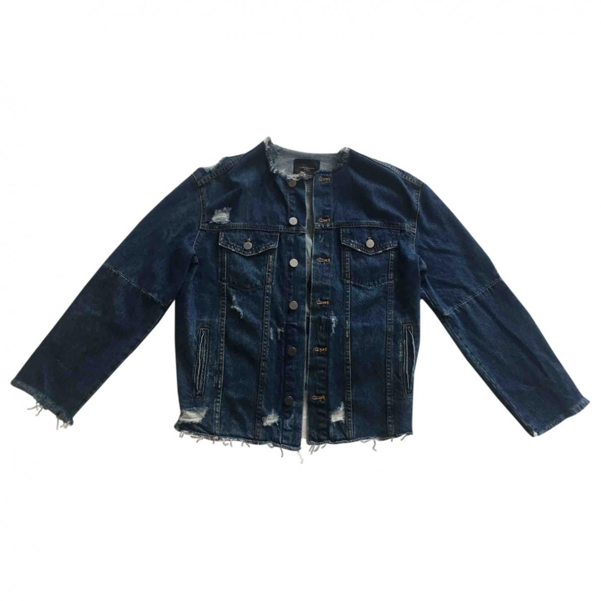 Zara - Manteau   pour femme en denim - bleu