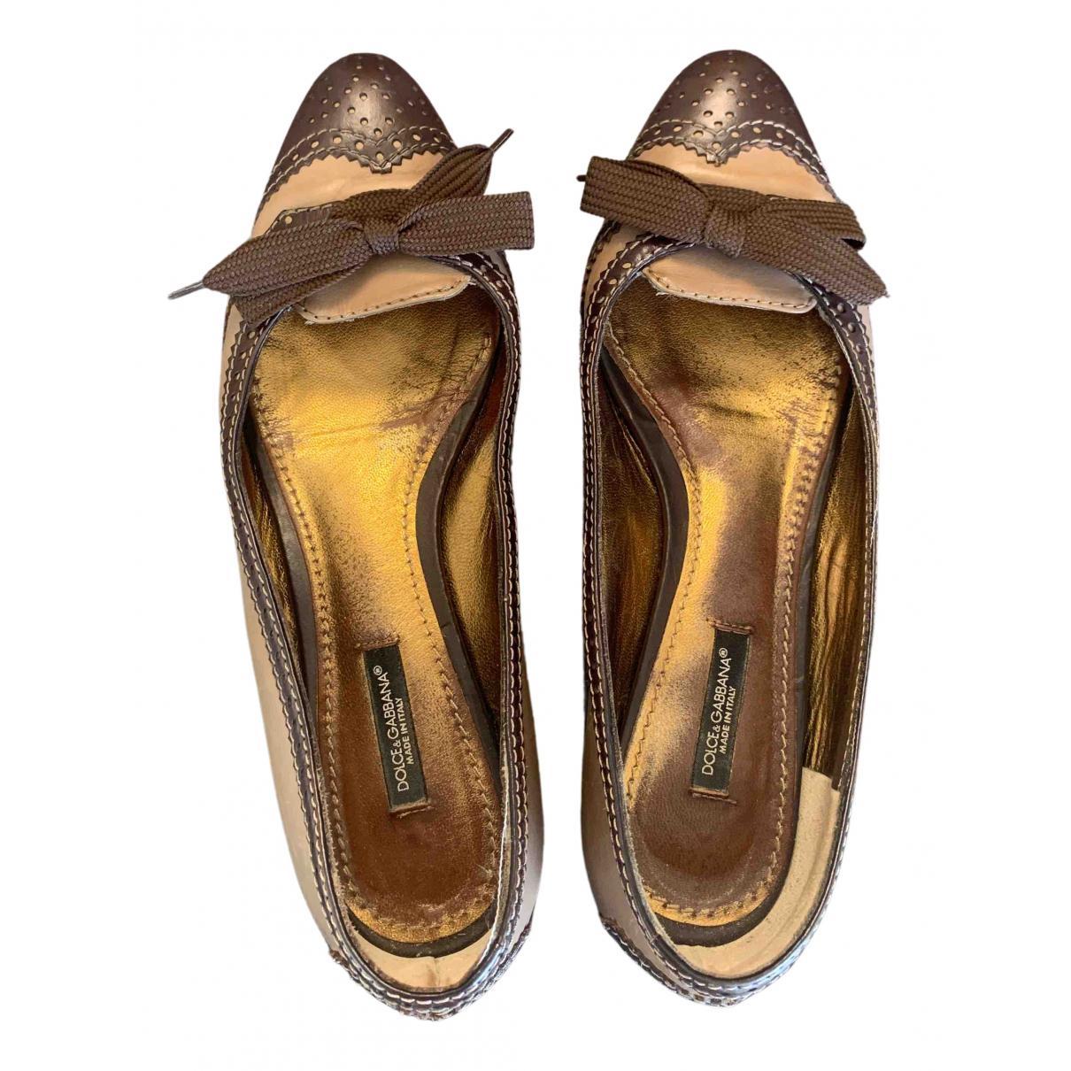 Dolce & Gabbana \N Ballerinas in  Braun Leder