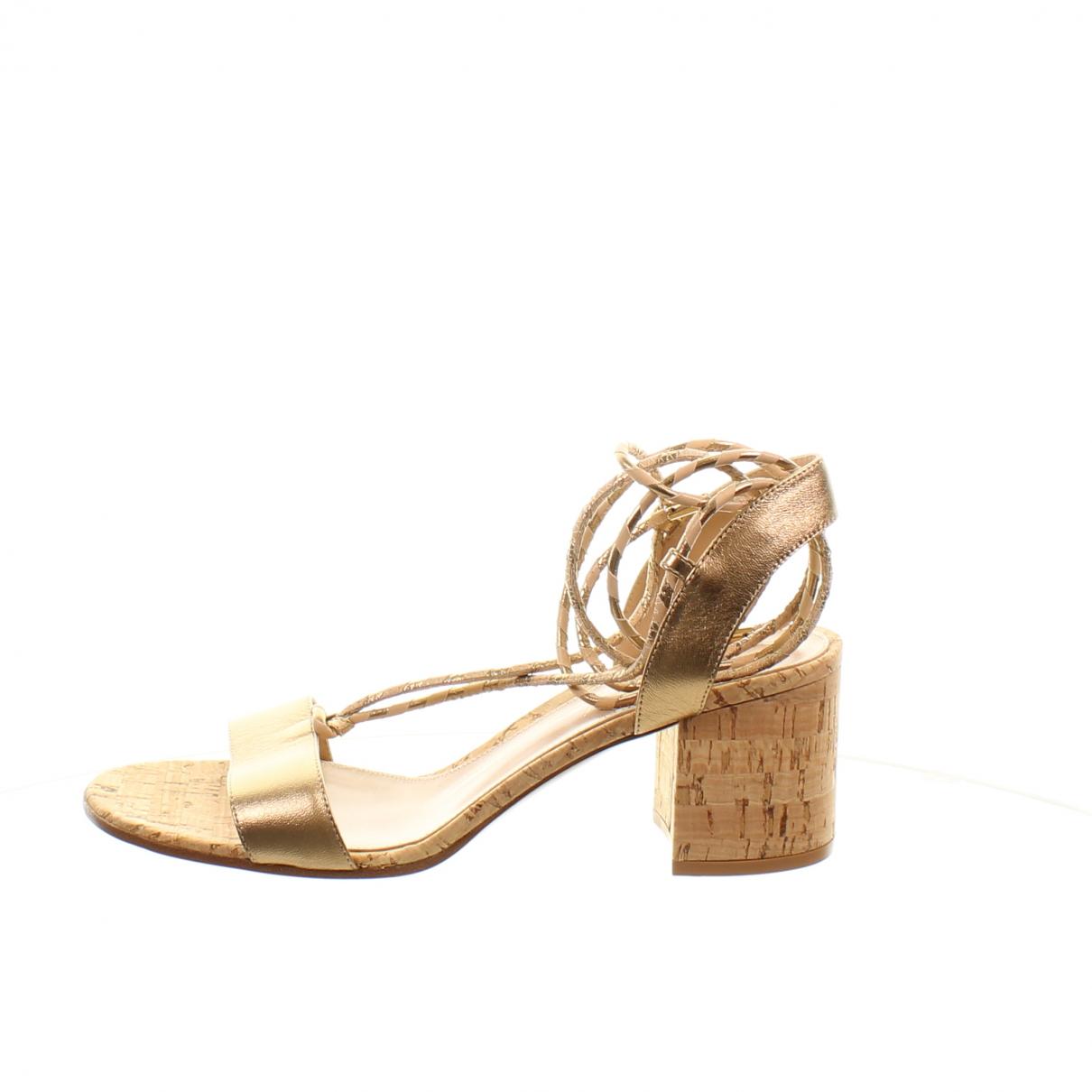 Gianvito Rossi - Sandales   pour femme en cuir - dore