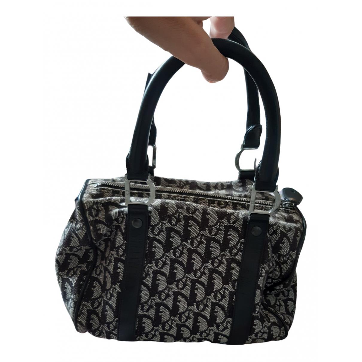 Dior - Sac a main Bowling pour femme en toile - noir