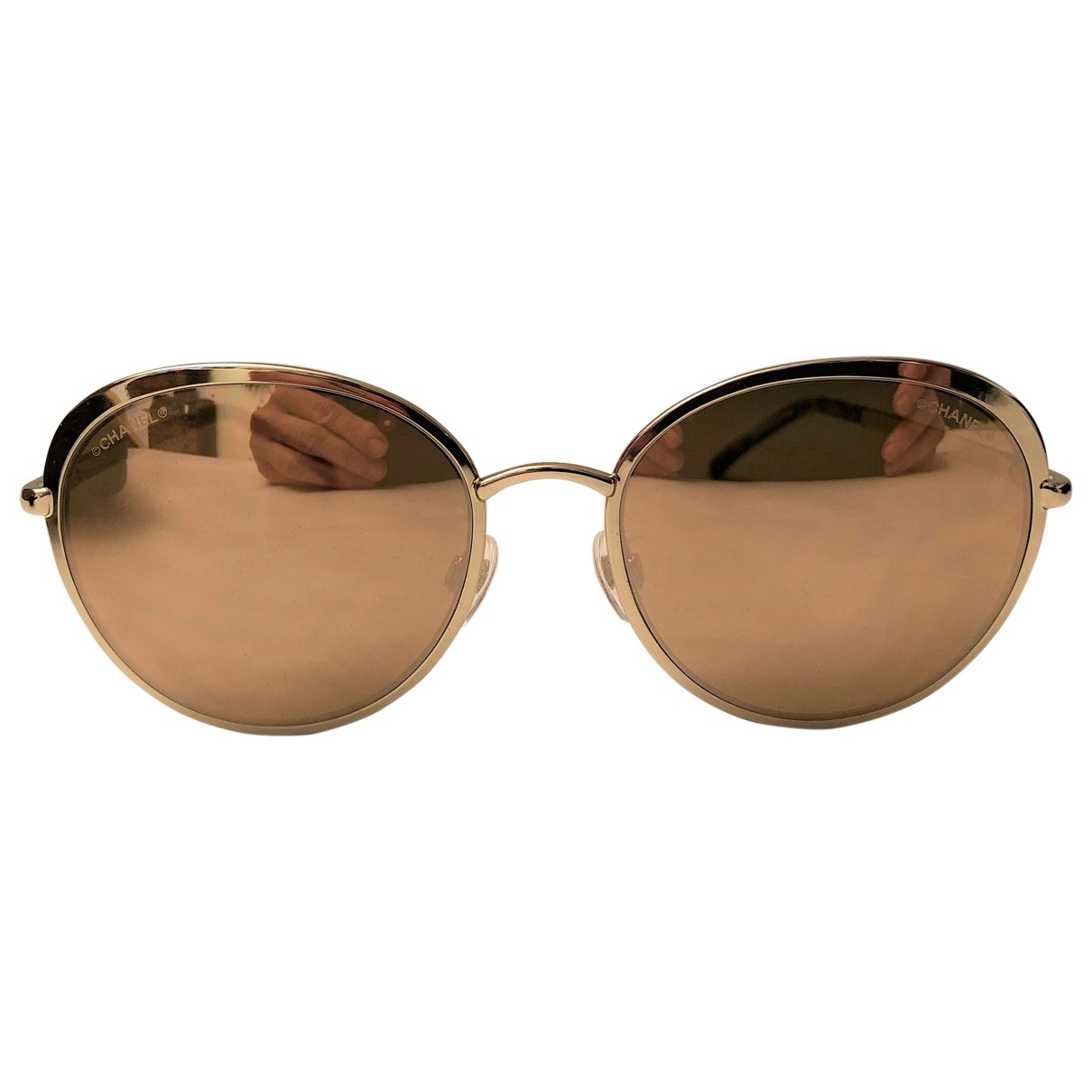 Chanel \N Gold Metal Sunglasses for Women \N