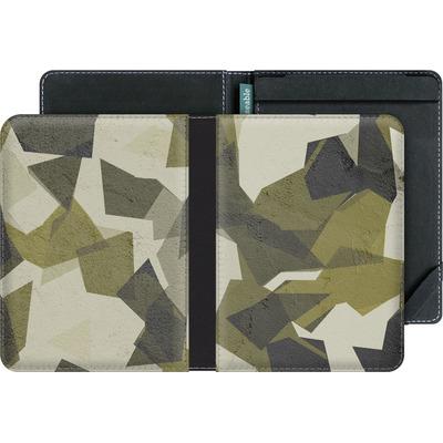 tolino vision eBook Reader Huelle - Geometric Camo Green von caseable Designs