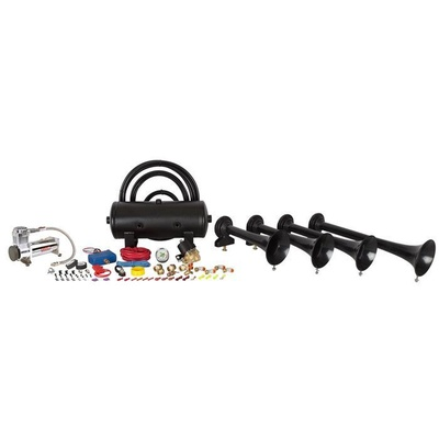 HornBlasters Conductor's Special 244 Train Horn Kit (Black) - HK-S4-244