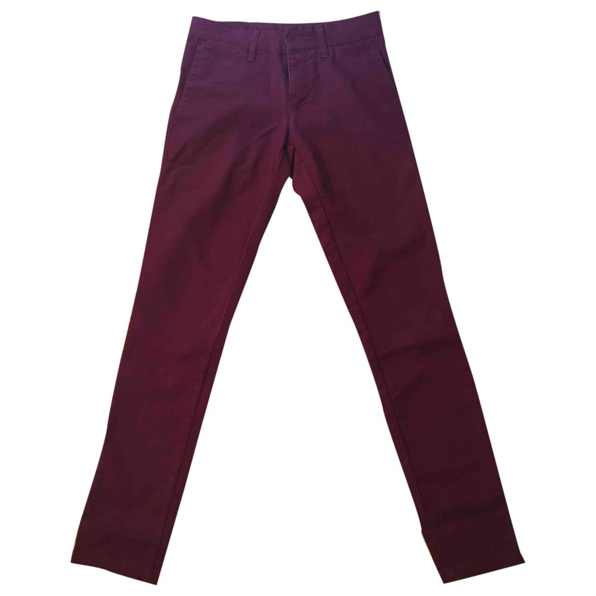 Carhartt \N Burgundy Cotton Trousers for Men 36 FR