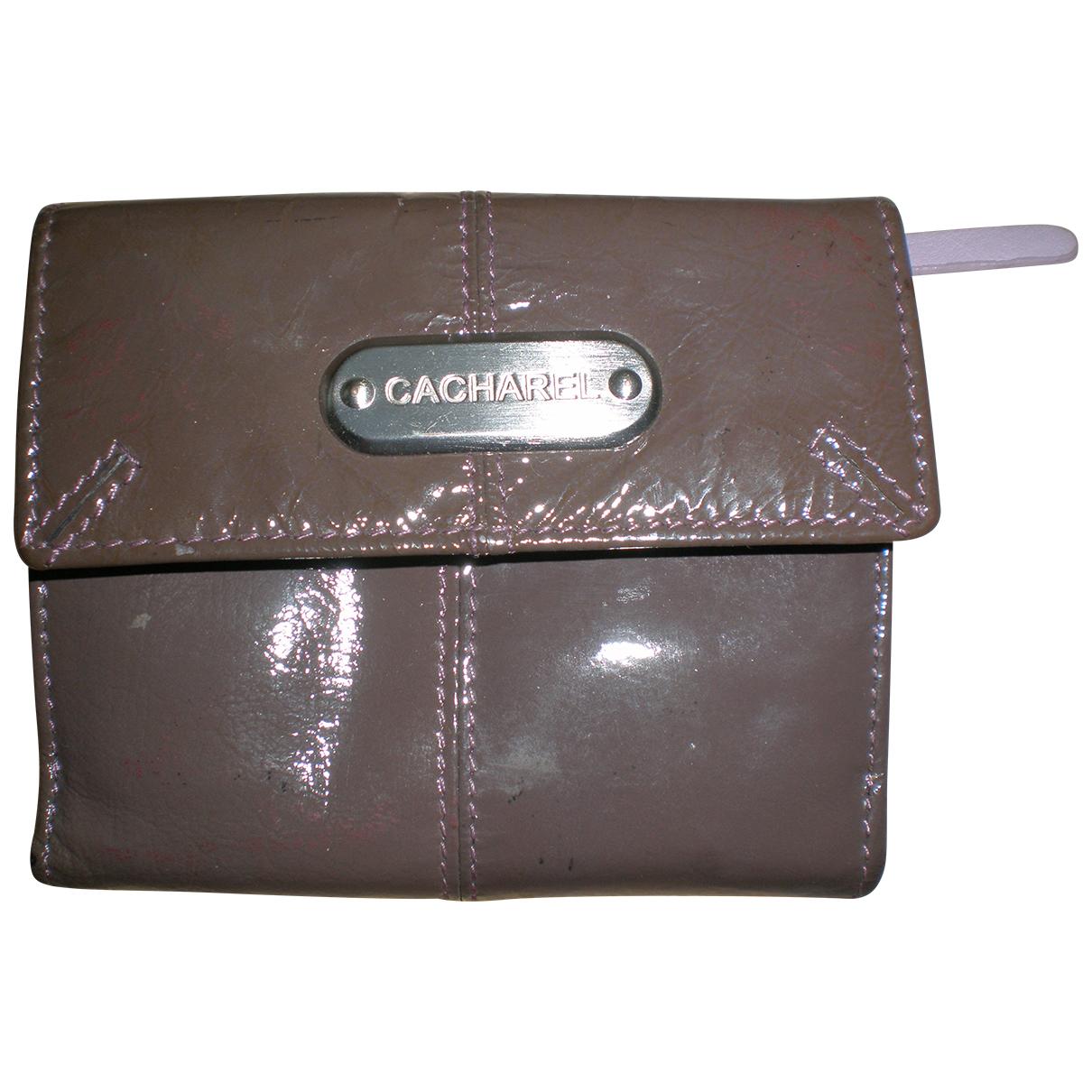 Cacharel - Portefeuille   pour femme en cuir verni - marron