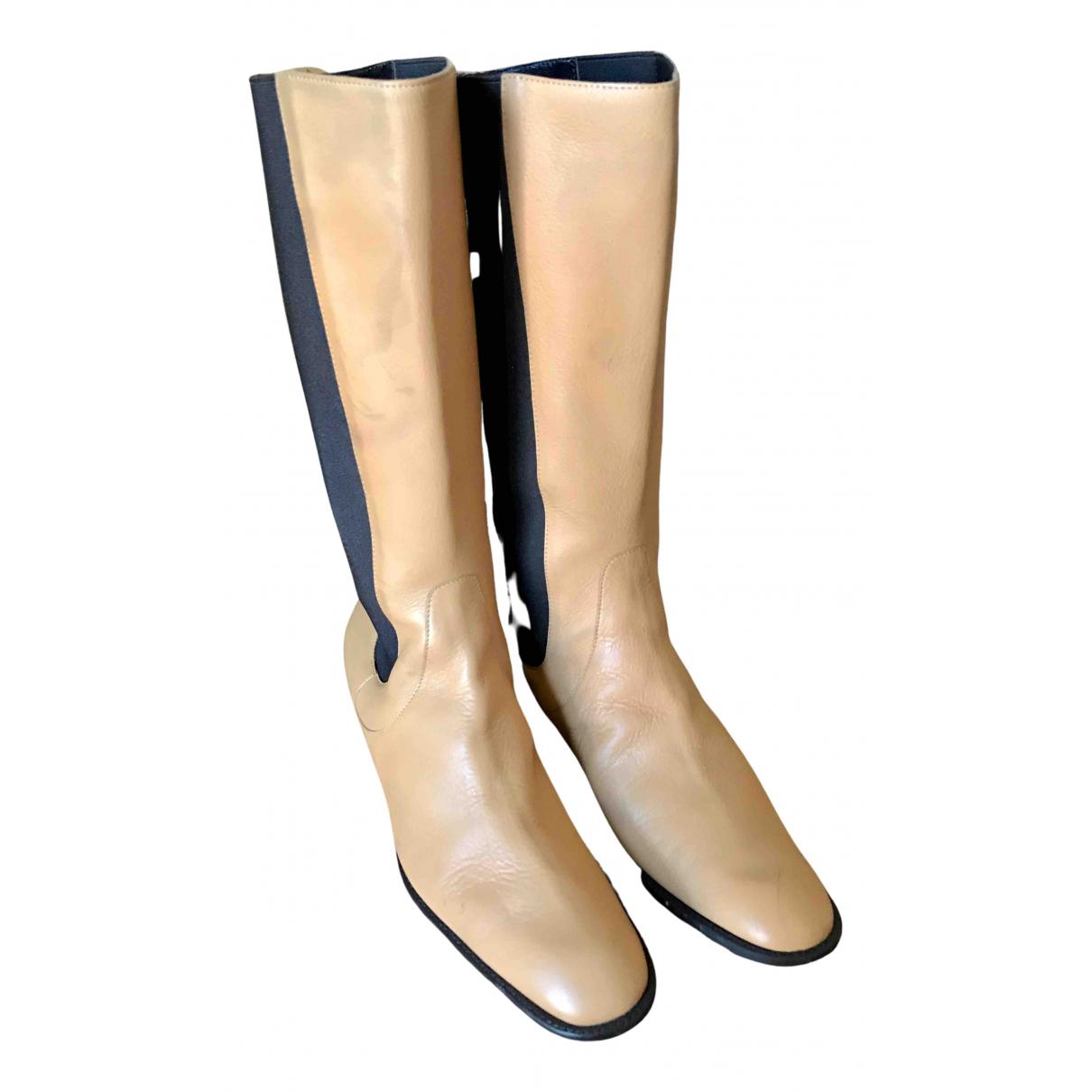Loewe \N Stiefel in  Kamel Leder