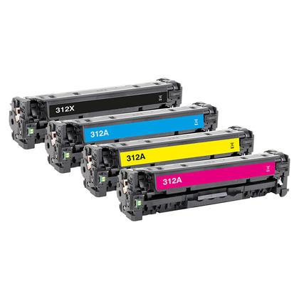 Compatible HP 312X 312A Toner Cartridge Combo BK/C/M/Y - Economical Box