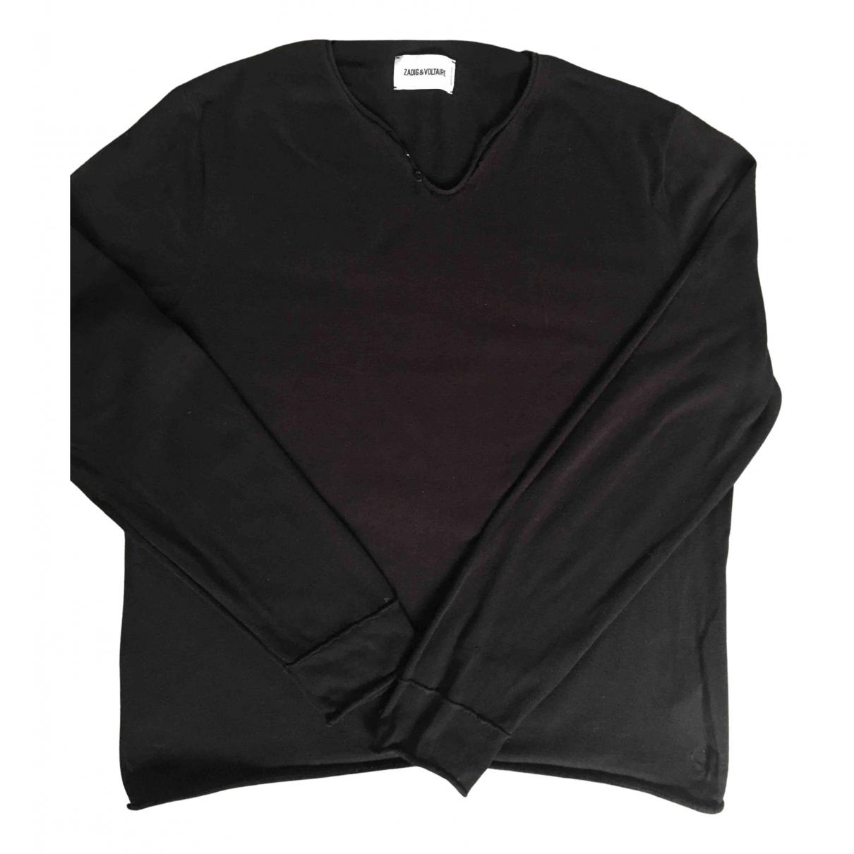 Zadig & Voltaire - Pulls.Gilets.Sweats   pour homme en coton - noir