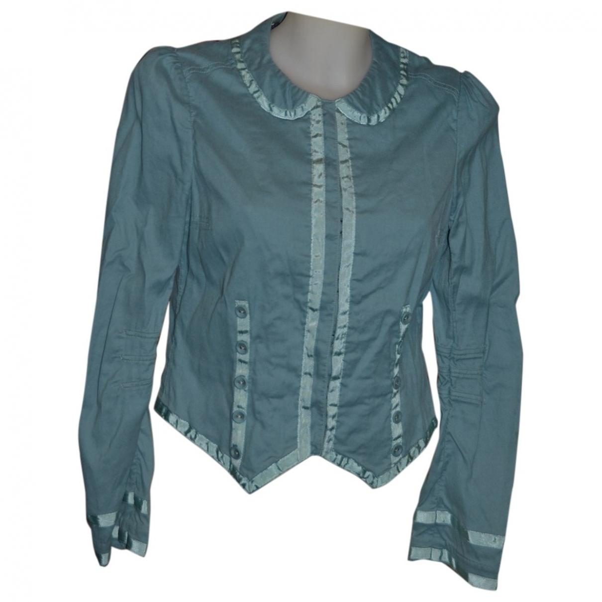 Marc Jacobs - Veste   pour femme en coton - turquoise