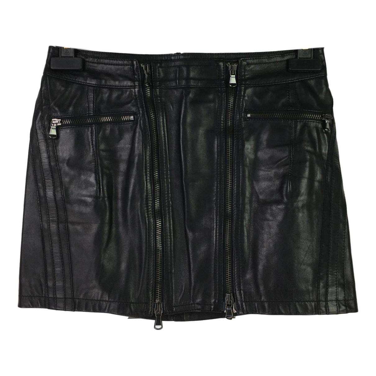 Mini falda de Cuero Diesel Black Gold