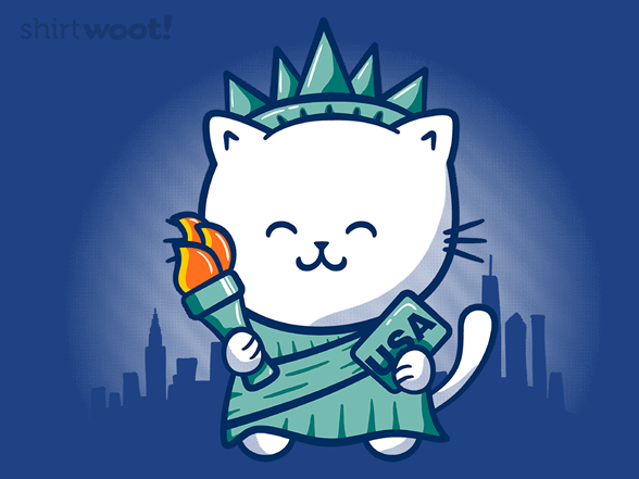 Catue Of Liberty T Shirt