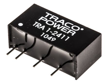 TRACOPOWER TRA 1 1W Isolated DC-DC Converter Through Hole, Voltage in 21.6 → 26.4 V dc, Voltage out 5V dc