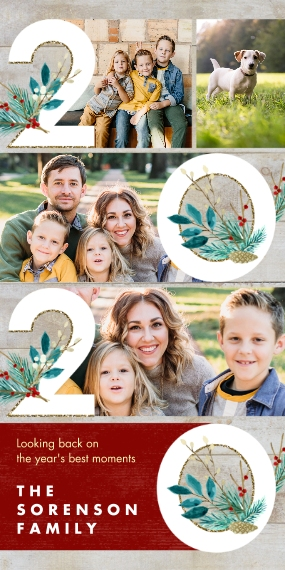 Christmas Photo Cards Flat Glossy Photo Paper Cards with Envelopes, 4x8, Card & Stationery -2020 Best Memories Collage by Hallmark