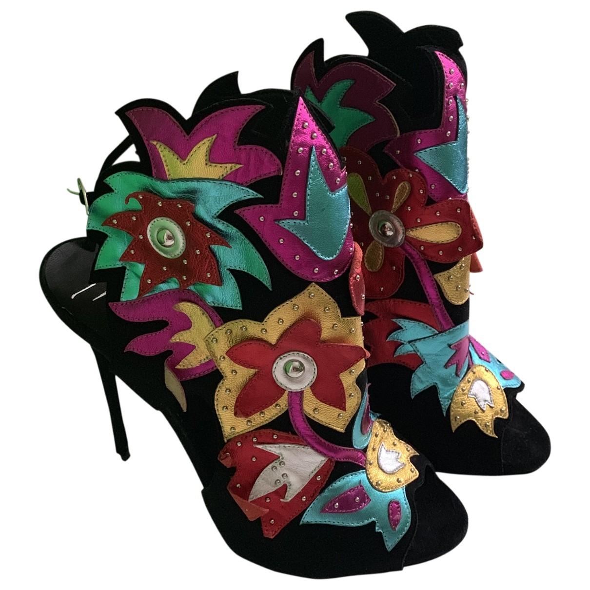 Giuseppe Zanotti - Boots   pour femme en suede - multicolore