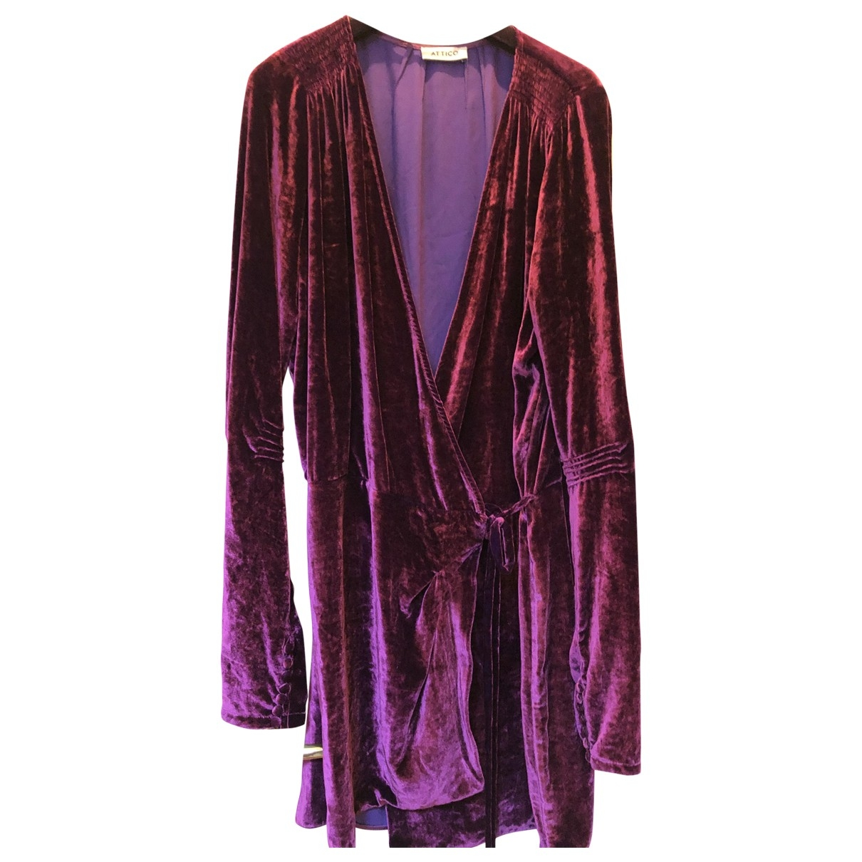 Attico \N Purple Velvet dress for Women 3 0-5