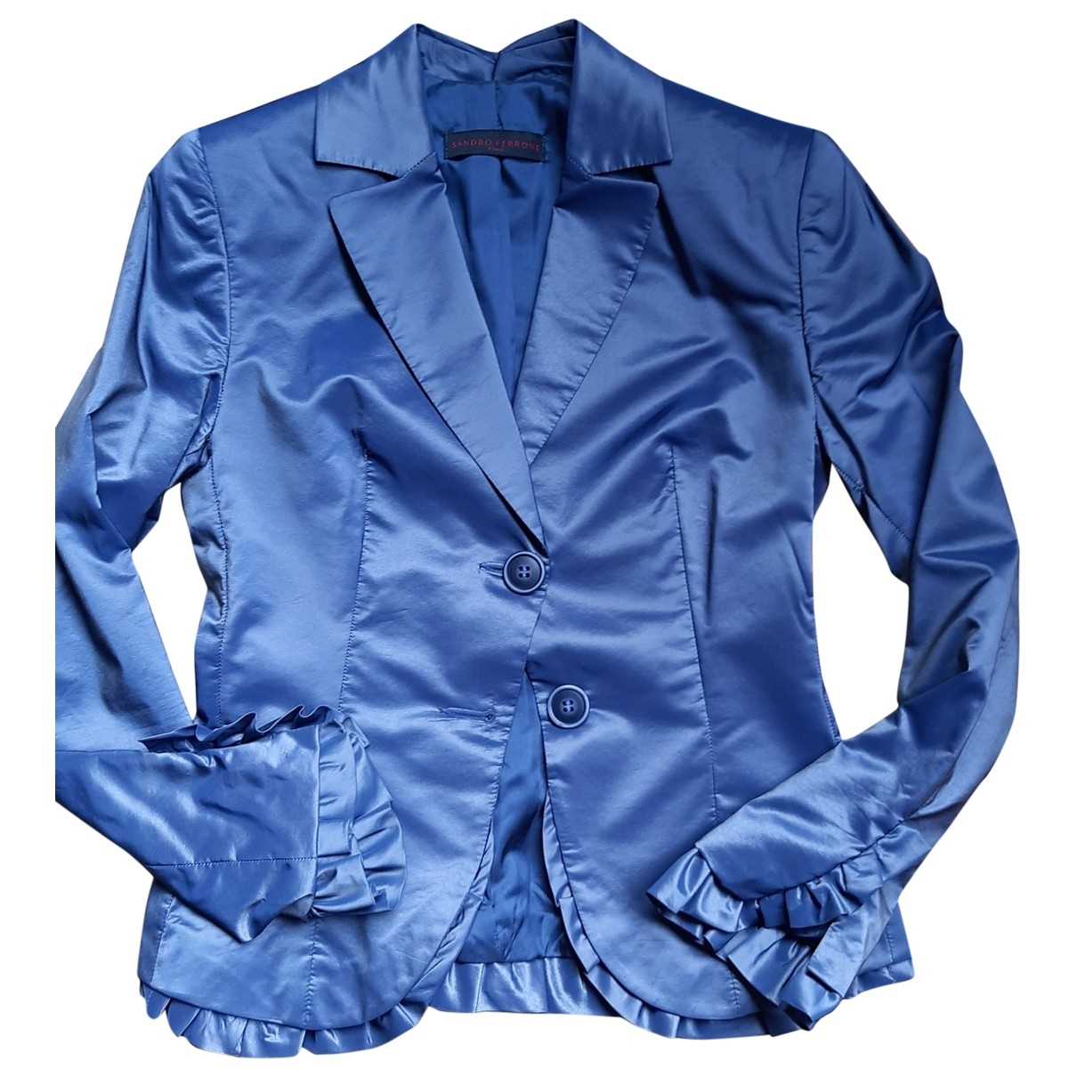 Non Signé / Unsigned \N Blue jacket for Women 34 FR