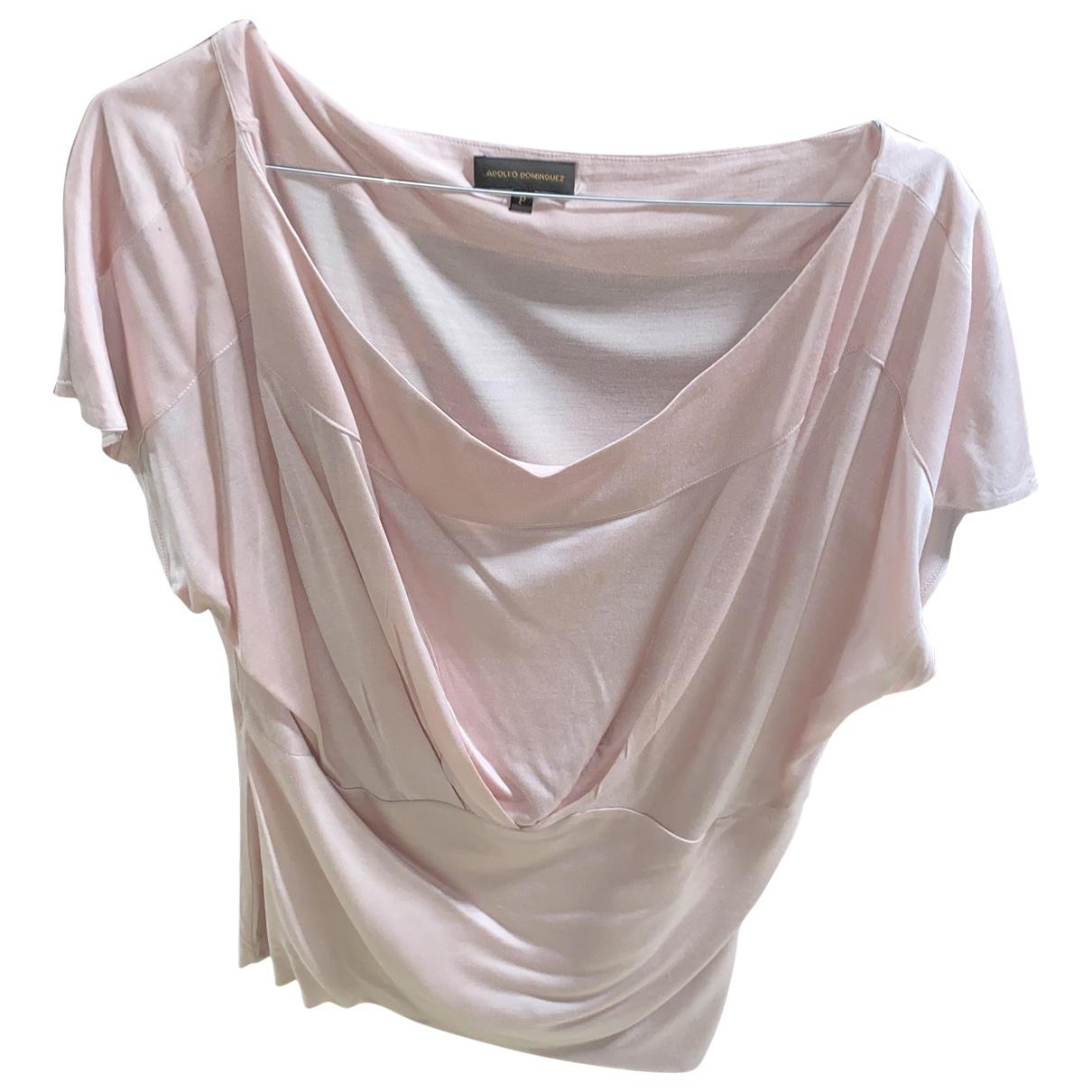Adolfo Dominguez - Top   pour femme en coton - rose
