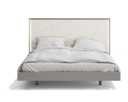 Sintra Collection 17554-K King Size Bed with LED Headboard  Select Wood/Wood Veneers Construction and Hand-Crafted in