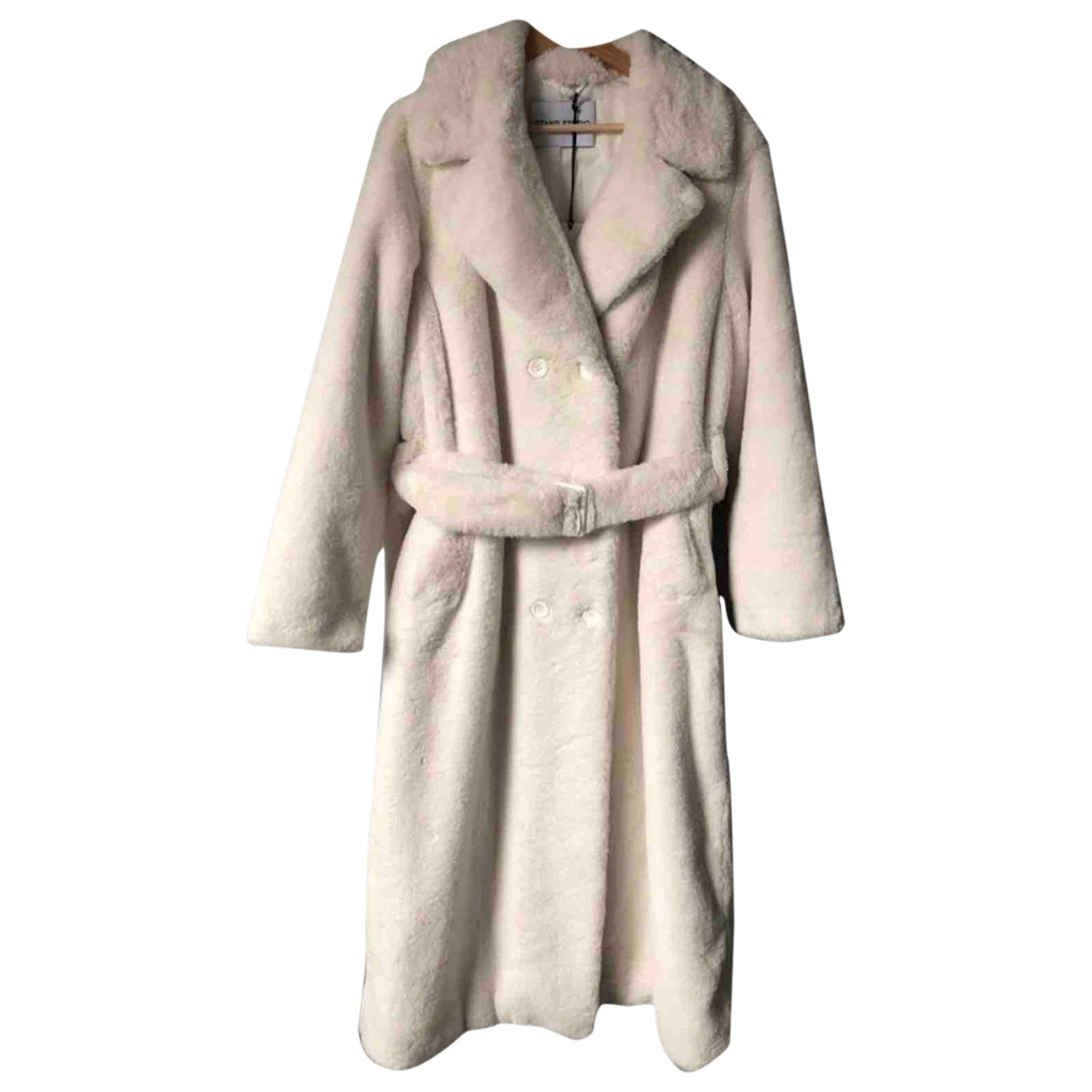 Stand Studio \N Ecru Faux fur coat for Women 38 FR