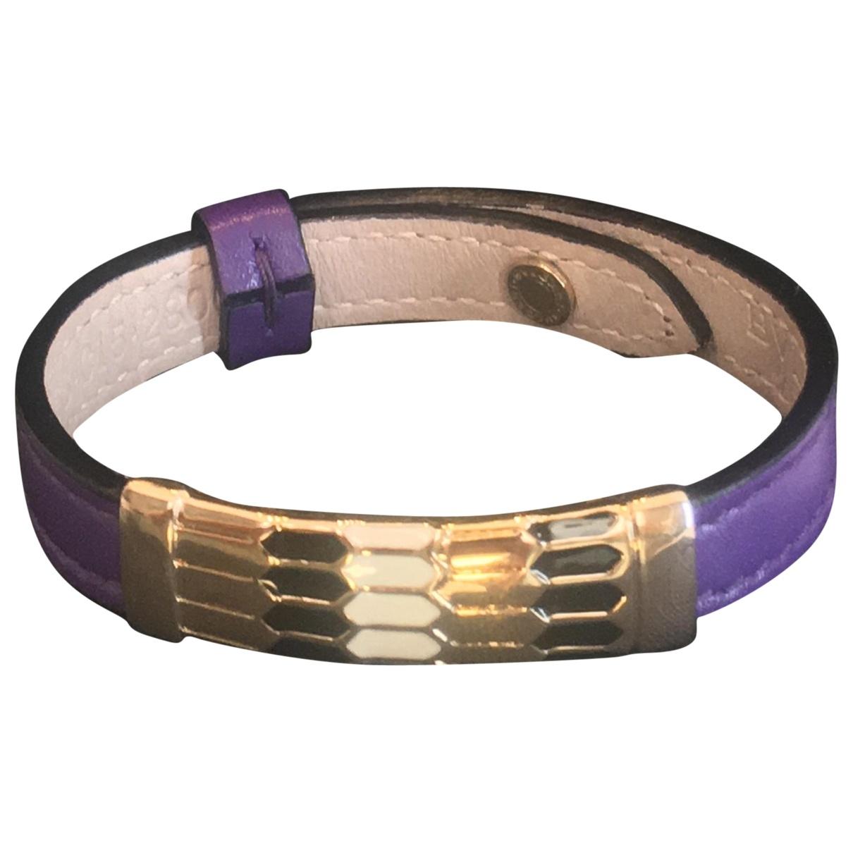Bvlgari \N Armband in Leder