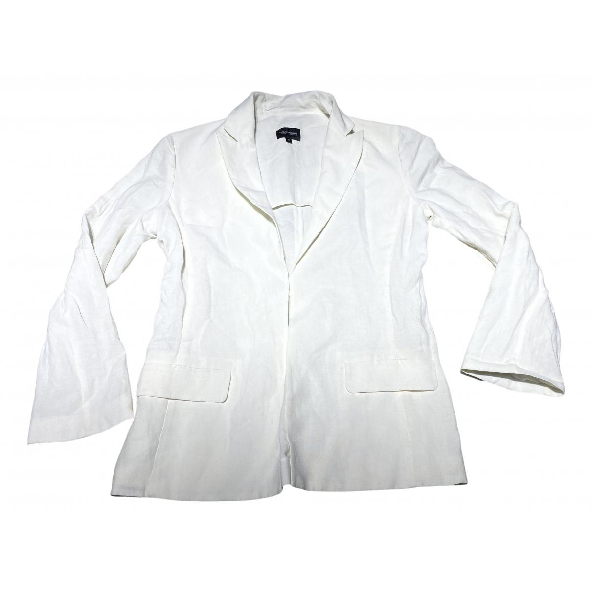 Giorgio Armani - Veste   pour femme en coton - blanc