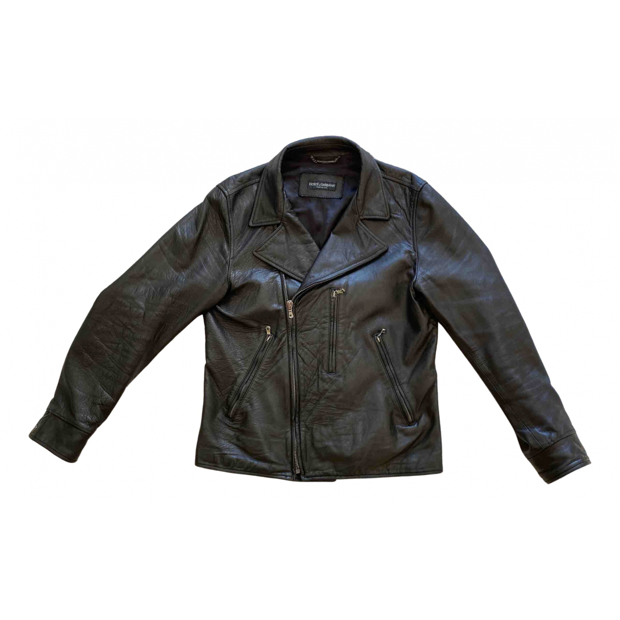 Dolce & Gabbana \N Black Leather jacket  for Men 50 IT