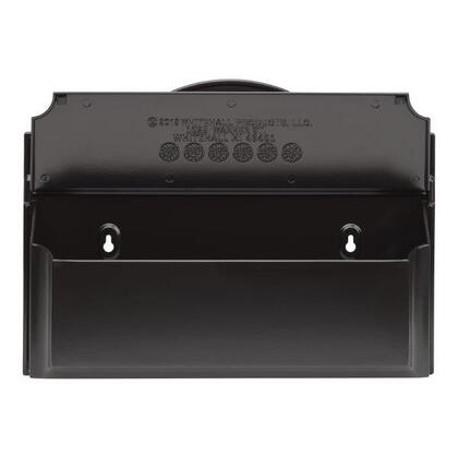 11258  Colonial Wall Mailbox Set 3 with Mailbox and Monogram with Alumi-Shield and Two keyhole-style mounting holes in Black and Gold