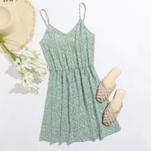 Cami Kleid mit Gaensebluemchen Muster