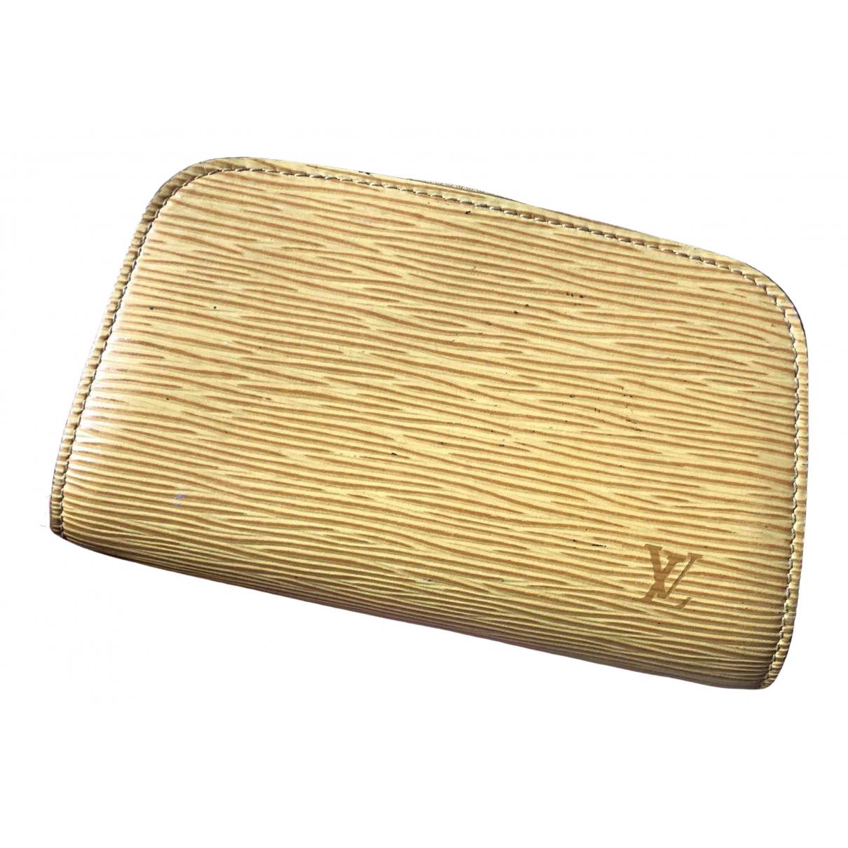 Louis Vuitton \N Kleinlederwaren in  Gelb Leder