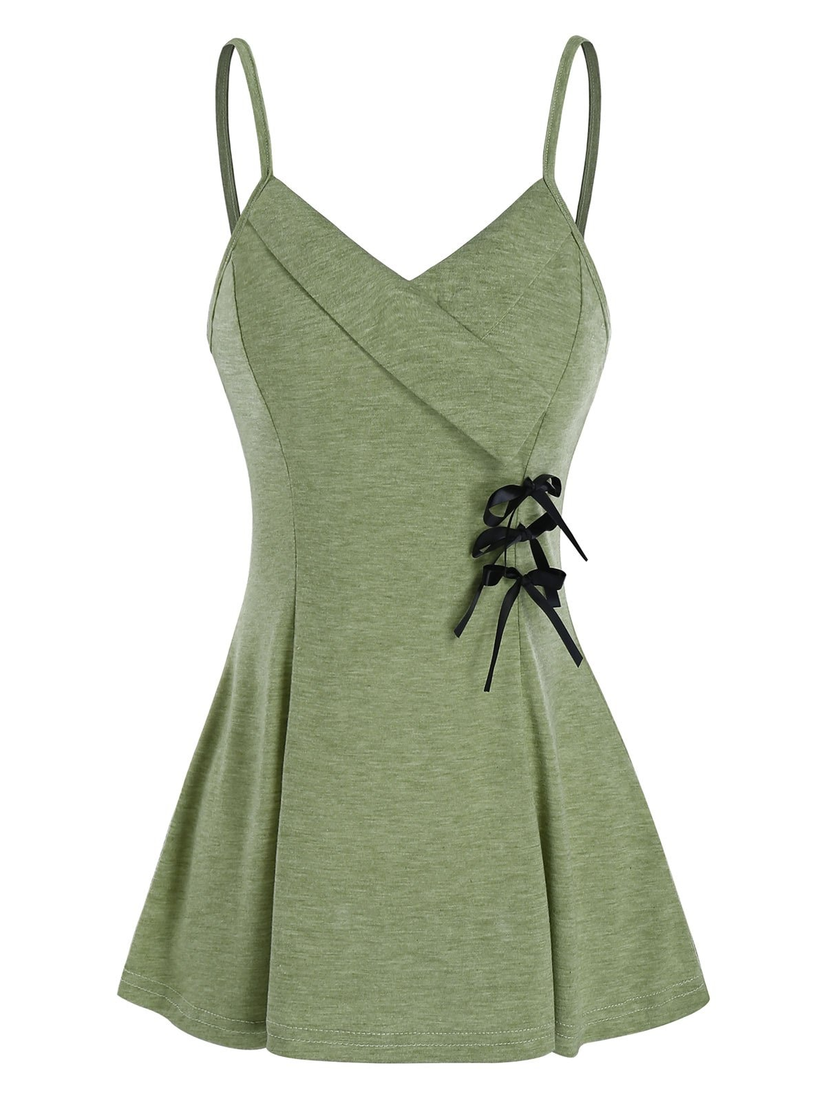 Bowknot Fit And Flare Slip Tank Top