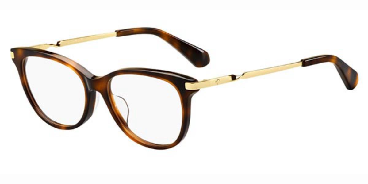 Kate Spade Emalie/F Asian Fit 086 Women's Glasses Tortoise Size 52 - Free Lenses - HSA/FSA Insurance - Blue Light Block Available