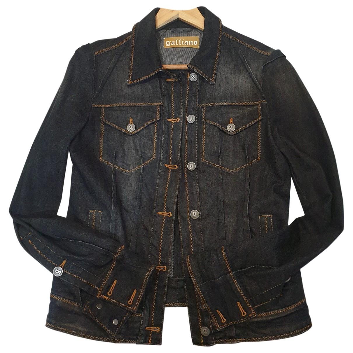 Galliano \N Black Cotton jacket for Women 42 IT