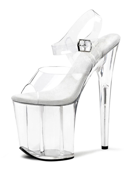 Milanoo Sandalias sexys para mujer Zapatos negros con plataforma abierta Peep Toe