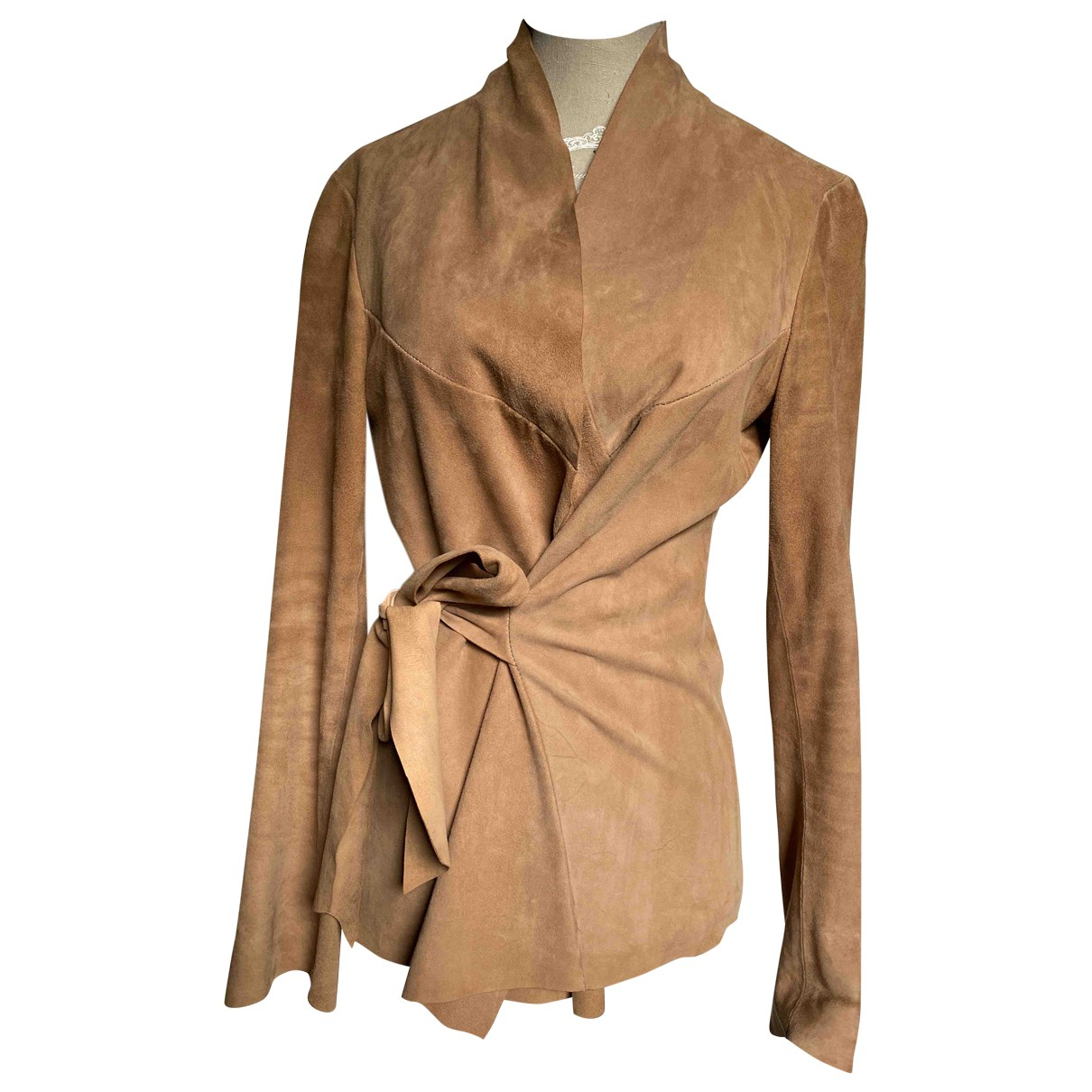 Non Signé / Unsigned N Camel Suede jacket for Women 44 IT