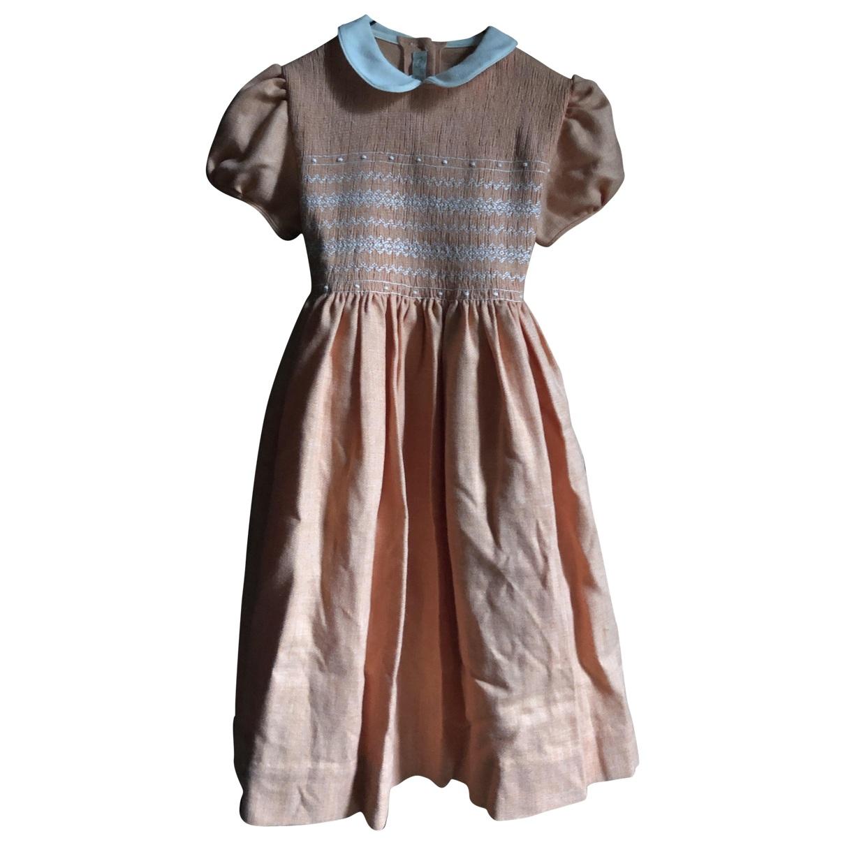 - Robe    pour enfant en laine - orange
