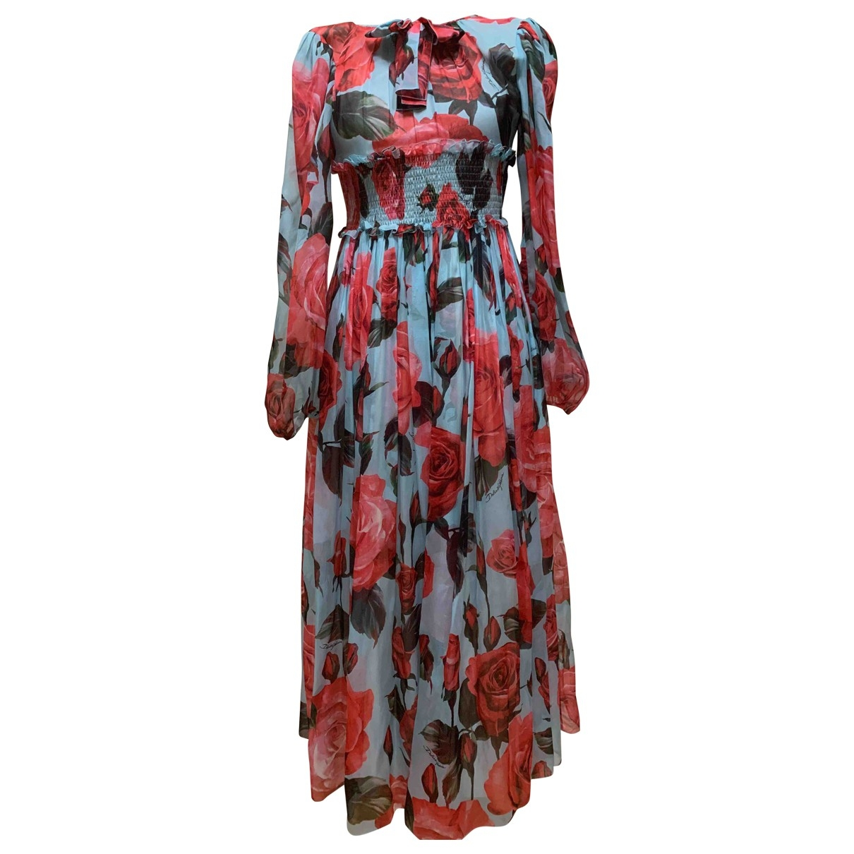 Dolce & Gabbana \N Turquoise Silk dress for Kids 12 years - XS