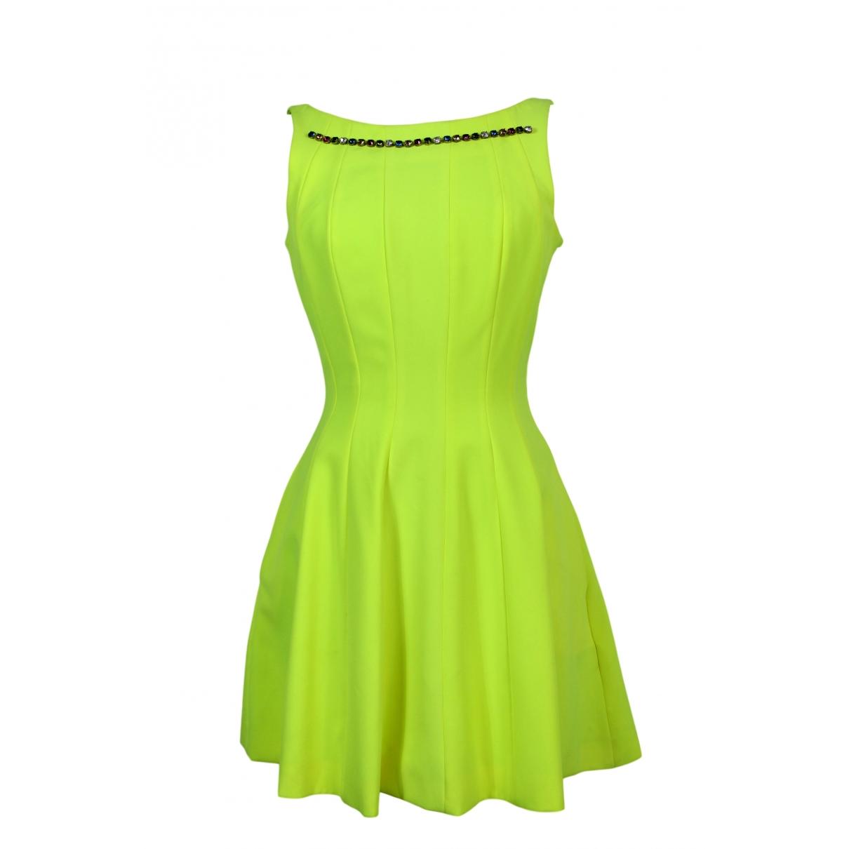 Philipp Plein \N Kleid in  Gelb Polyester