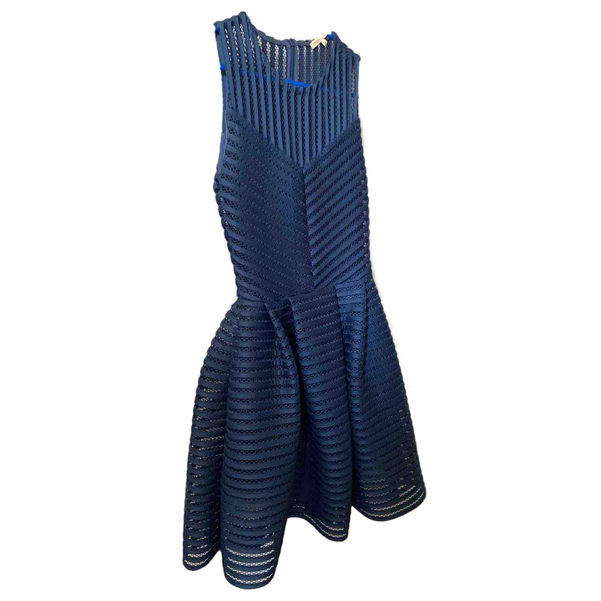 Maje Fall Winter 2019 Blue Lace dress for Women 36 FR