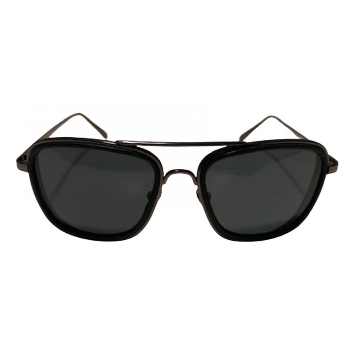 Linda Farrow \N Black Metal Sunglasses for Men \N