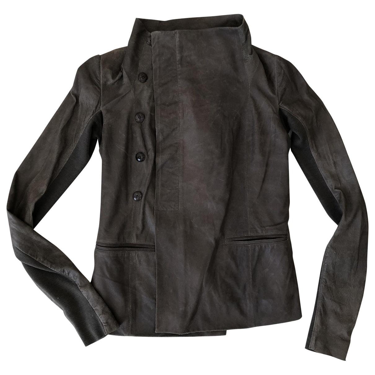 Rick Owens - Veste   pour femme en cuir - marron
